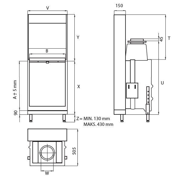 wkład kominkowy ECO LINEA V 1070 2.0