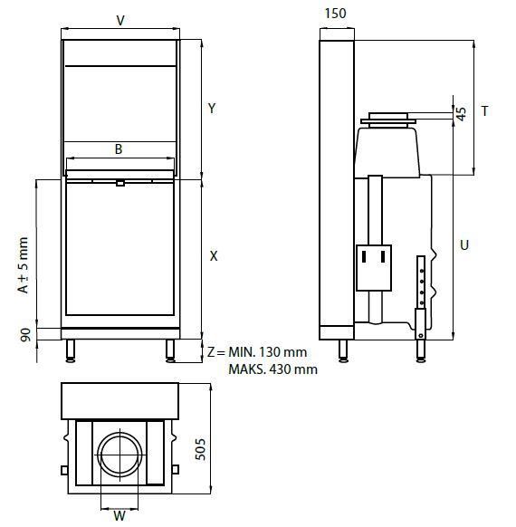 wkład kominkowy KFD Linea V 810 2.0
